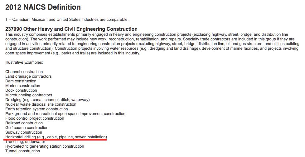 Boring Contractors NAICS | 237990 BoringContractors.com